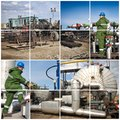 Oil And Gas Industry. Industrial. Manufacturing photo collage Royalty Free Stock Photo