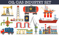Oil gas industry infographics concept. Royalty Free Stock Photo