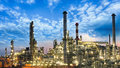 Oil and gas industry - refinery, factory, petrochemical plant Royalty Free Stock Photo