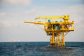 Oil and gas platform in the gulf or sea world energy offshore rig construction Stock Photo