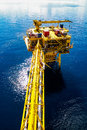 Oil and gas platform offshore at the south of thailand Royalty Free Stock Image