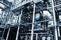 Oil and gas refinery details Royalty Free Stock Photos