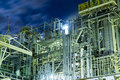 Oil and gas refinery industrial plant Royalty Free Stock Photo