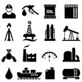 Oil and gasoline icon set petroleum related Royalty Free Stock Photography