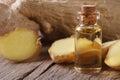 Oil Of Ginger In A Glass Bottl...