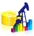 Oil graph Stock Image
