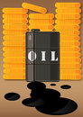 Oil a illustration about increasing in price production motoring and fuel costs Royalty Free Stock Images