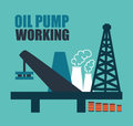 Oil industry design over blue background vector illustration Royalty Free Stock Image