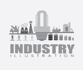 Oil industry design over gray background vector illustration Royalty Free Stock Image