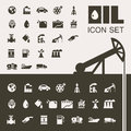 Oil industry flat icon set vector illustration eps Royalty Free Stock Image