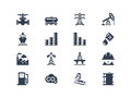 Oil industry icons isolated on white Royalty Free Stock Photography