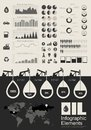 Oil industry infographic elements opportunity to highlight any country vector illustration eps Royalty Free Stock Photos