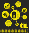 Oil industry infographic template elements plus icon set opportunity to highlight any country on the world map vector illustration Stock Images