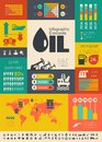 Oil industry infographic template elements plus icon set opportunity to highlight any country on the world map vector illustration Stock Image