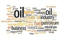Oil industry and petroleum word cloud illustration word collage concept Stock Photos