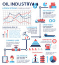 Oil Industry - poster, brochure cover template