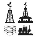 Oil industry production petroleum icon Royalty Free Stock Photo