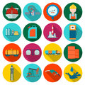 Oil industry set icons in flat style. Big collection of oil industry vector symbol stock illustration