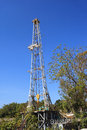 Oil land drilling rig petroleum industry Royalty Free Stock Photos