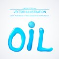 Oil liquid text on a white background vector illustration Royalty Free Stock Photos