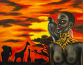 Oil Painting Of African Woman