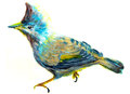 Oil painting bird on paper Stock Photography