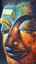 Oil painting Buddha face Royalty Free Stock Photo