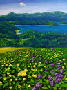 Oil Painting - Landscape Royalty Free Stock Image