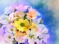 Oil Painting Soft Colorful Bou...