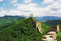 Oil painting stylized photo of the great wall of china Royalty Free Stock Photography