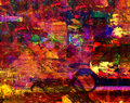 Oil painting very interesting large scale abstract on canvas Royalty Free Stock Photos