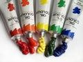 Oil paints 1 Stock Images