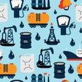 Oil And Petroleum Icon Set, Fl...