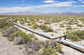 Oil pipeline small in the desert in new mexico Stock Photography