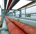 Oil pipelines in the refinery thailand Stock Photos