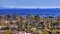 Oil Platforms Houses Buildings Pacific Ocean Santa Barbara California Royalty Free Stock Photo