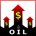 Oil price. Vector illustration Royalty Free Stock Image