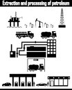 Oil production equipment vector this is file of eps format Stock Image
