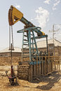 Oil pump within baku territory Stock Photos