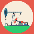 Oil Pump Flat Vector Illustrat...