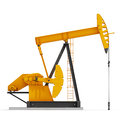 Oil pump jack isolated on white background Royalty Free Stock Image