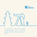 Oil pump jack silhouette design vector illustration Stock Photos