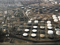 Oil refinery aerial. Stock Photography