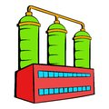 Oil refinery or chemical plant icon, icon cartoon