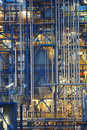 Oil refinery close-up Royalty Free Stock Photo