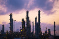 Oil Refinery at Dawn Stock Photography