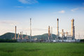 Oil Refinery factory in the morning , petrochemical plant Royalty Free Stock Photo