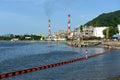 Oil refinery factory near sea nakornsrithammarad thailand Royalty Free Stock Photography