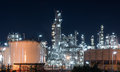 Oil refinery gas industry plant of petroleum Royalty Free Stock Photo