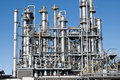 Oil refinery industry distillation pipelines Royalty Free Stock Photo